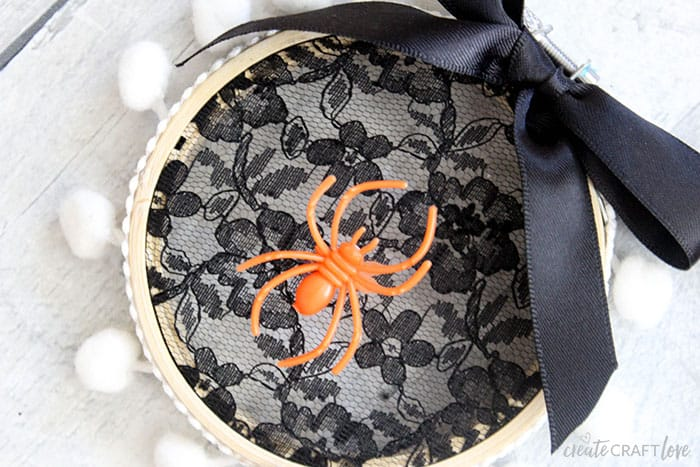 Love this Spider Web Embroidery Hoop Art!