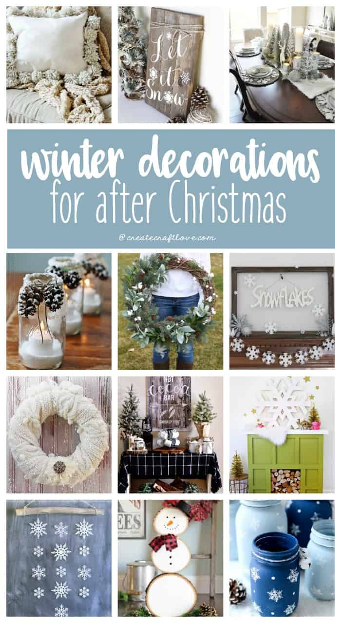 Winter Decorations for After Christmas