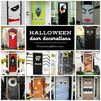 Greet trick or treaters and other guests with these adorable and spooky Halloween Door Decorations!