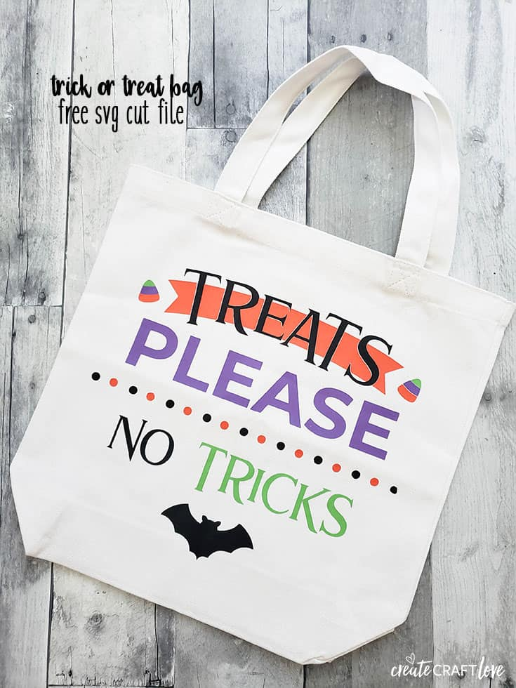 Whip up your own Trick or Treat Bag for the kiddos with our free SVG cut file!