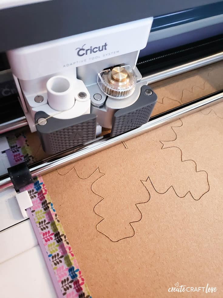 cutting chipboard with cricut maker