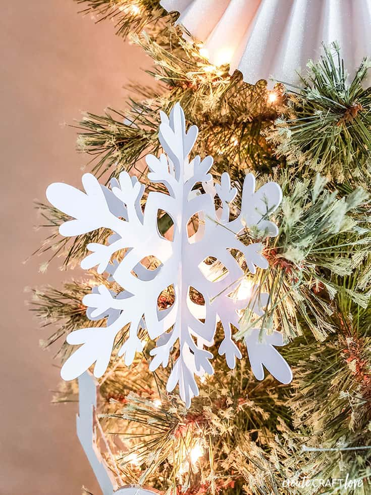 3D snowflakes for christmas tree with cricut
