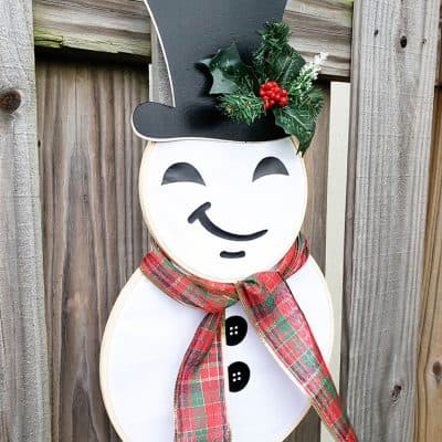 Hoop Snowman Wreath for Christmas