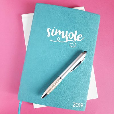 Word of the Year Journal with your Cricut