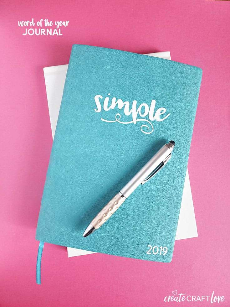 Create this Word of the Year Journal with your Cricut to document your progress!