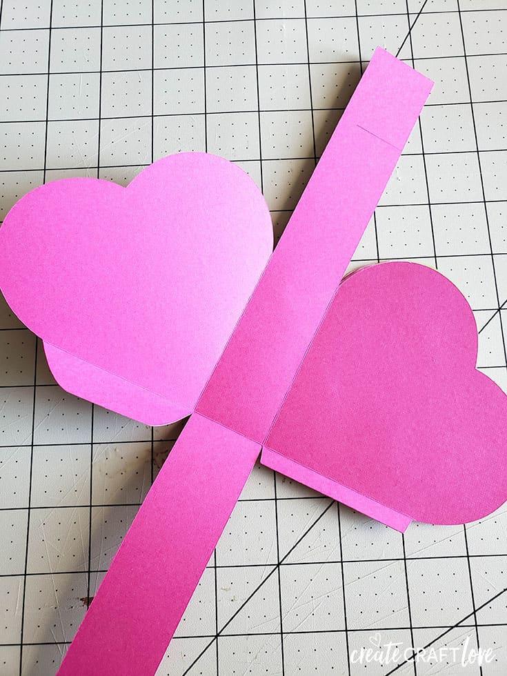 folding mini heart pinata box