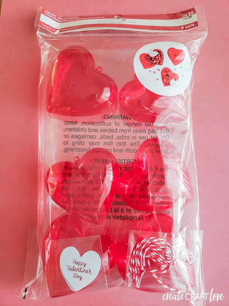 Cute heart boxes to use for Conversation Heart Valentine Treat Box!