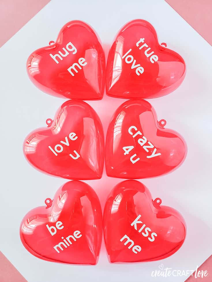 Fill this Conversation Heart Valentine Treat Box with your favorite candy!