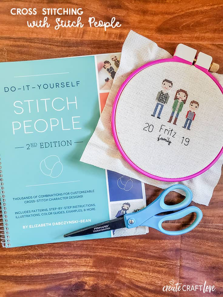 Personalize your cross stitching with stitch people!  Create your own family and friends with these super cute DIY patterns!