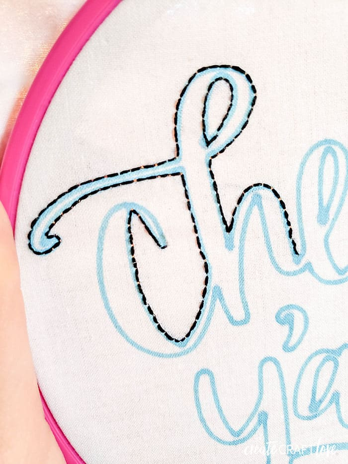 using your embroidery pattern