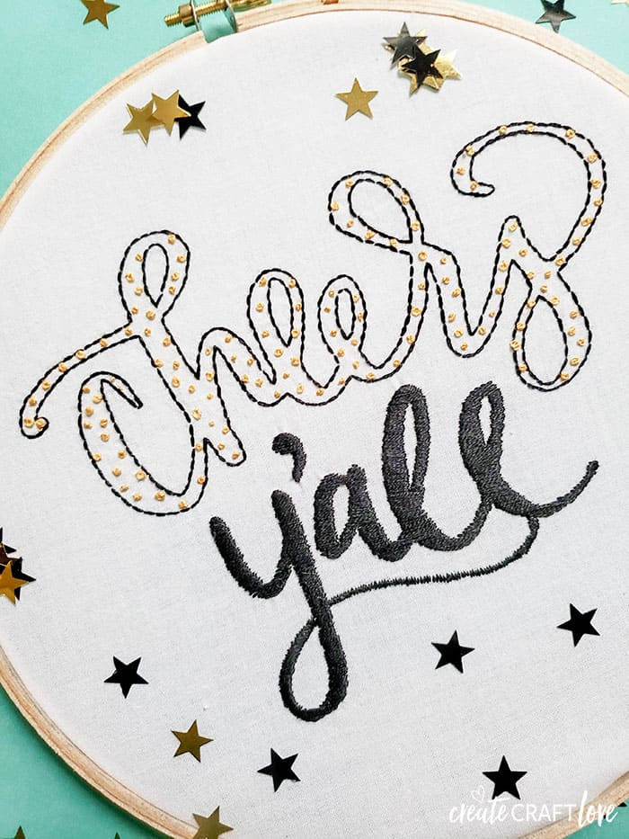 using your cricut to create an embroidery pattern