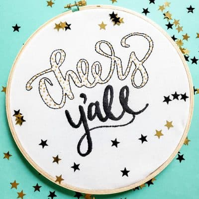 Learn to create an embroidery pattern with Cricut in this simple tutorial!