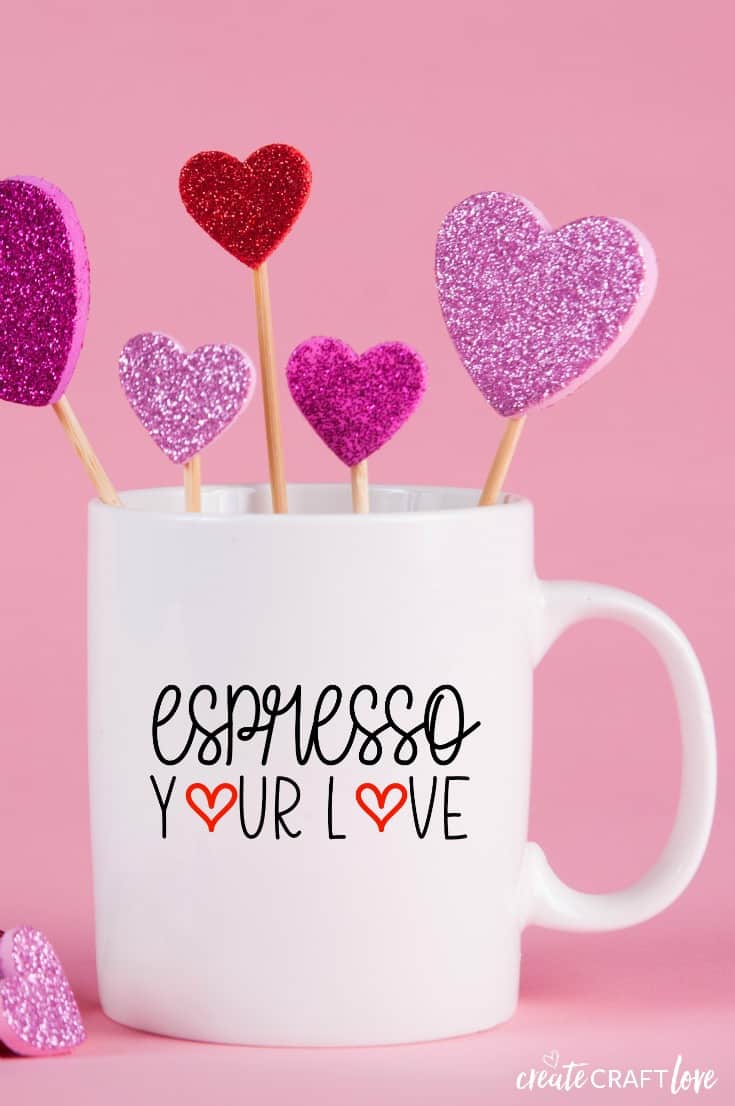 Dollar Tree Valentine Coffee Mug Free SVG JPG PNG Files