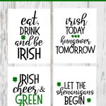 Irish Drinking Printables for St. Patrick's Day
