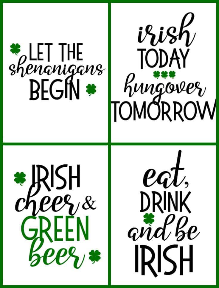 Irish Drinking Printables from Create.Craft.Love #printables #stpatricksday