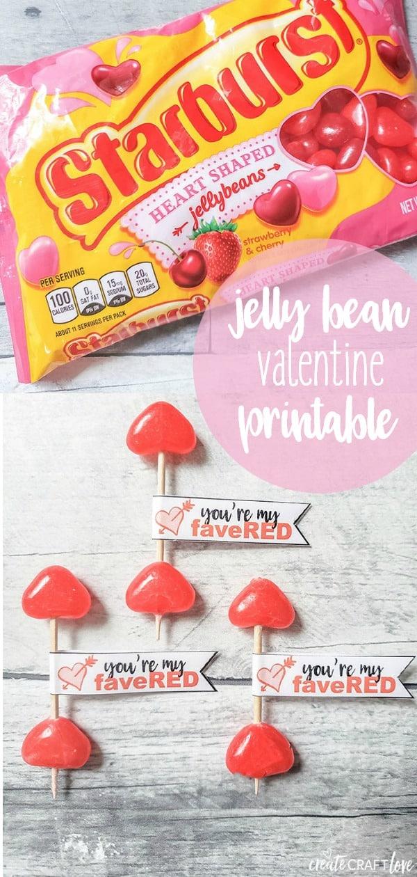 Jelly Bean Valentine Printable