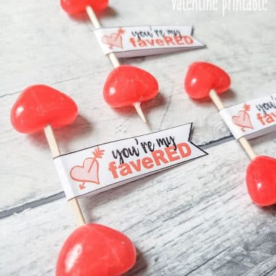 Jelly Bean Valentine Free Printable
