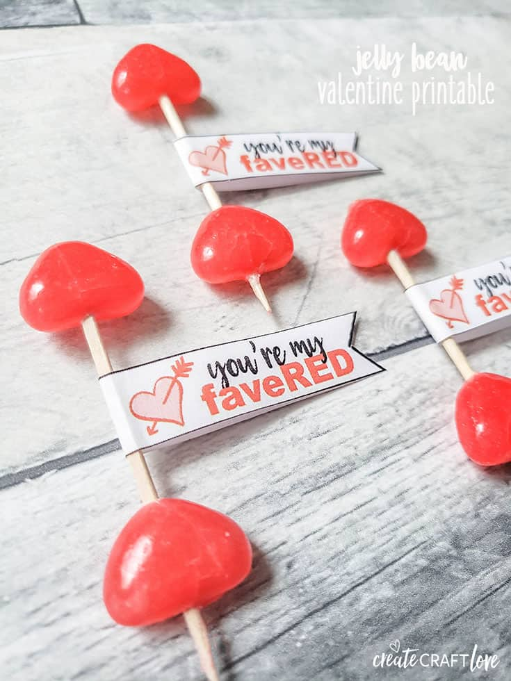 photo relating to Starburst Valentine Printable identified as Jelly Bean Valentine No cost Printable - Establish Craft Take pleasure in