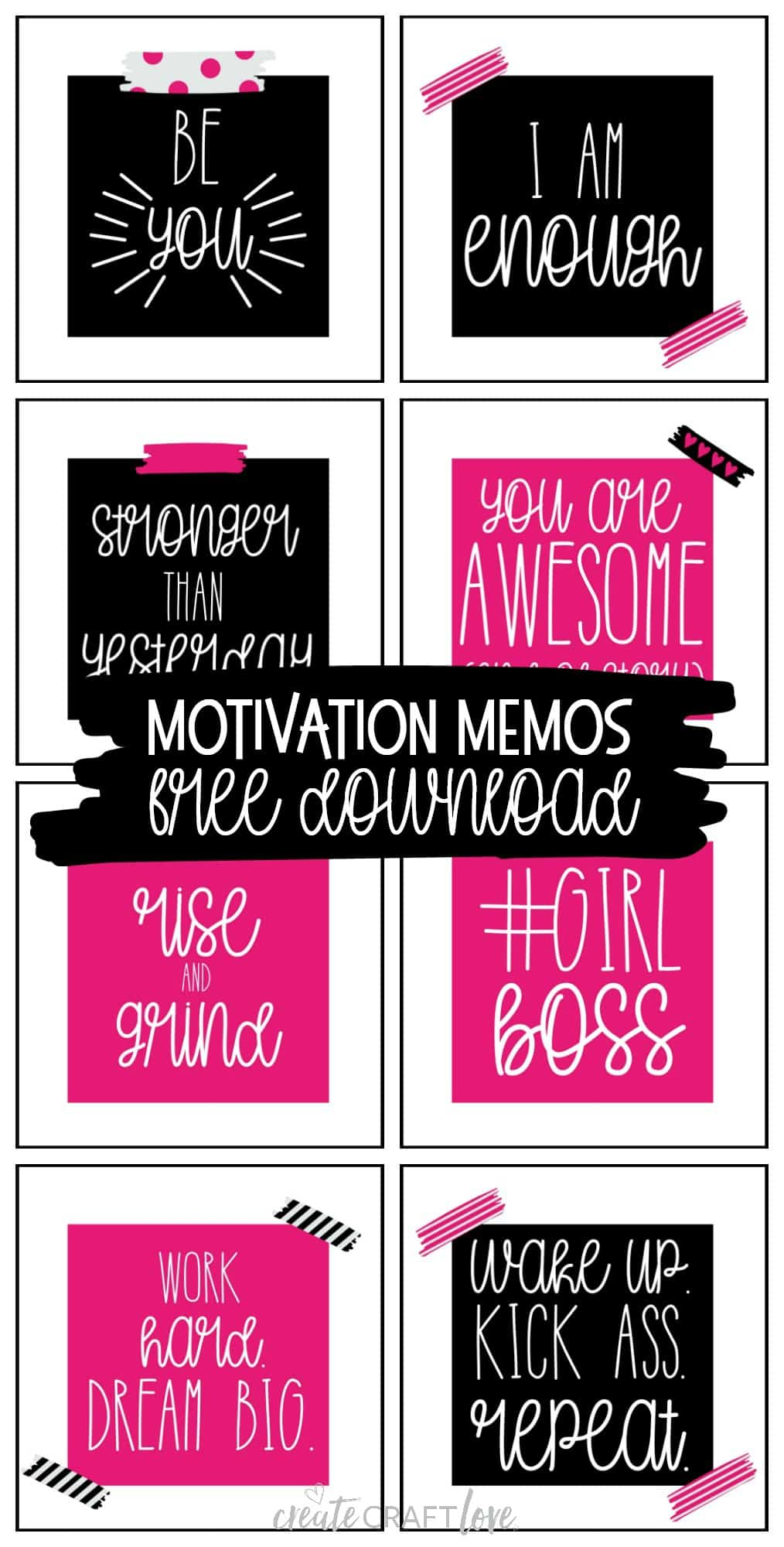 Lift up your fellow girl bosses with these encouraging Motivation Memos!