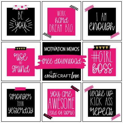 Motivation Memos | Free Printable Download