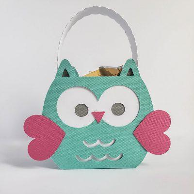 Owl Valentine Treat Box from Cricut