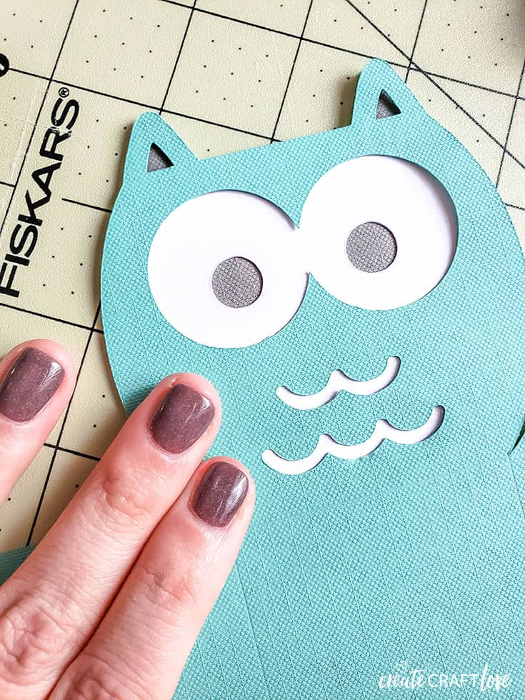 assembling owl valentine treat box