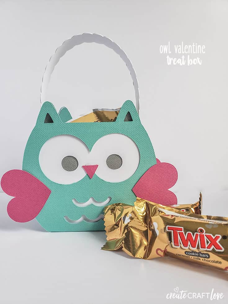 Fill this cute Owl Valentine Treat Box with your favorite candy for classroom parties this Valentine's Day!