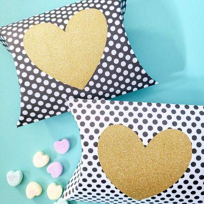 Valentine Pillow Box with Cricut