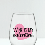Galentine Wine Glass | Free SVG Cut File