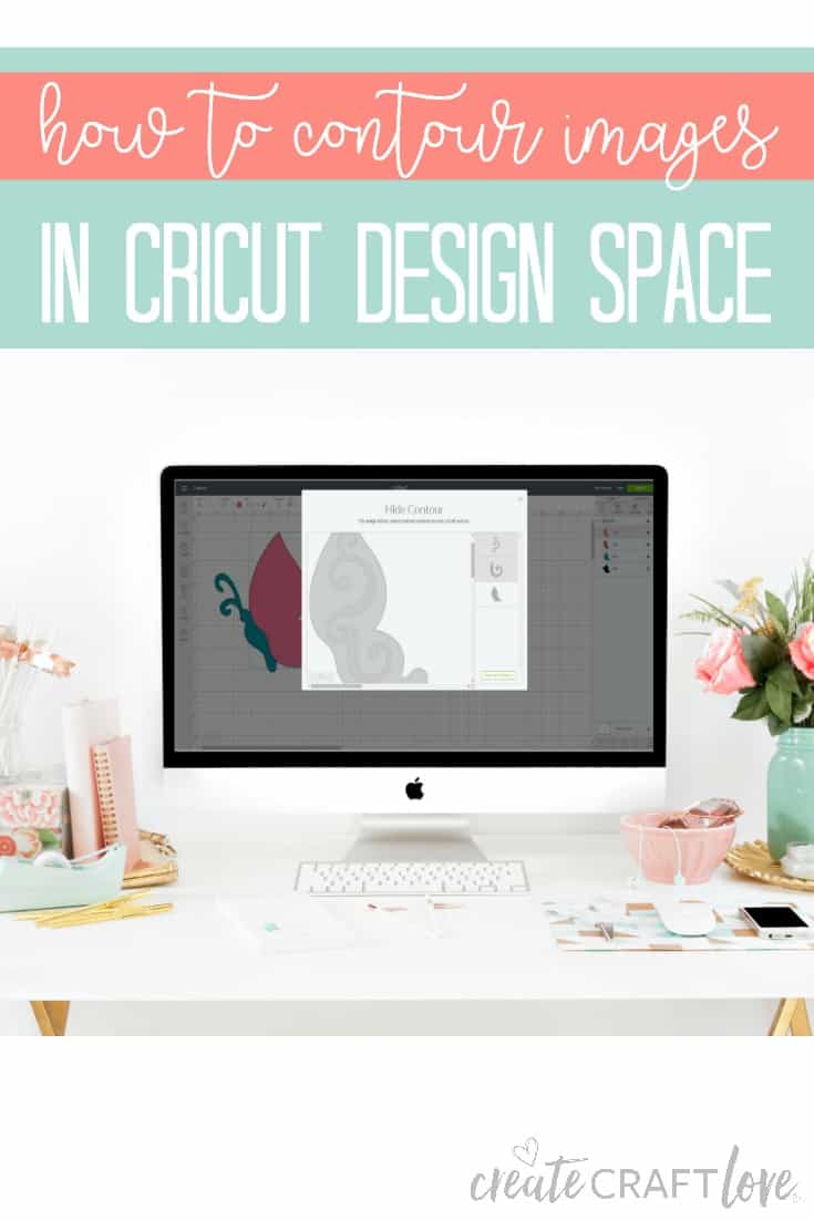 How to contour images in Cricut Design Space! #cricut #designspace