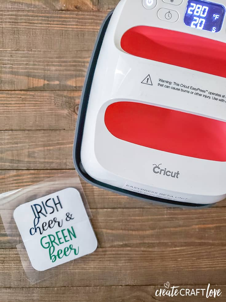 Use EasyPress 2 to create Irish Drinking Coasters!