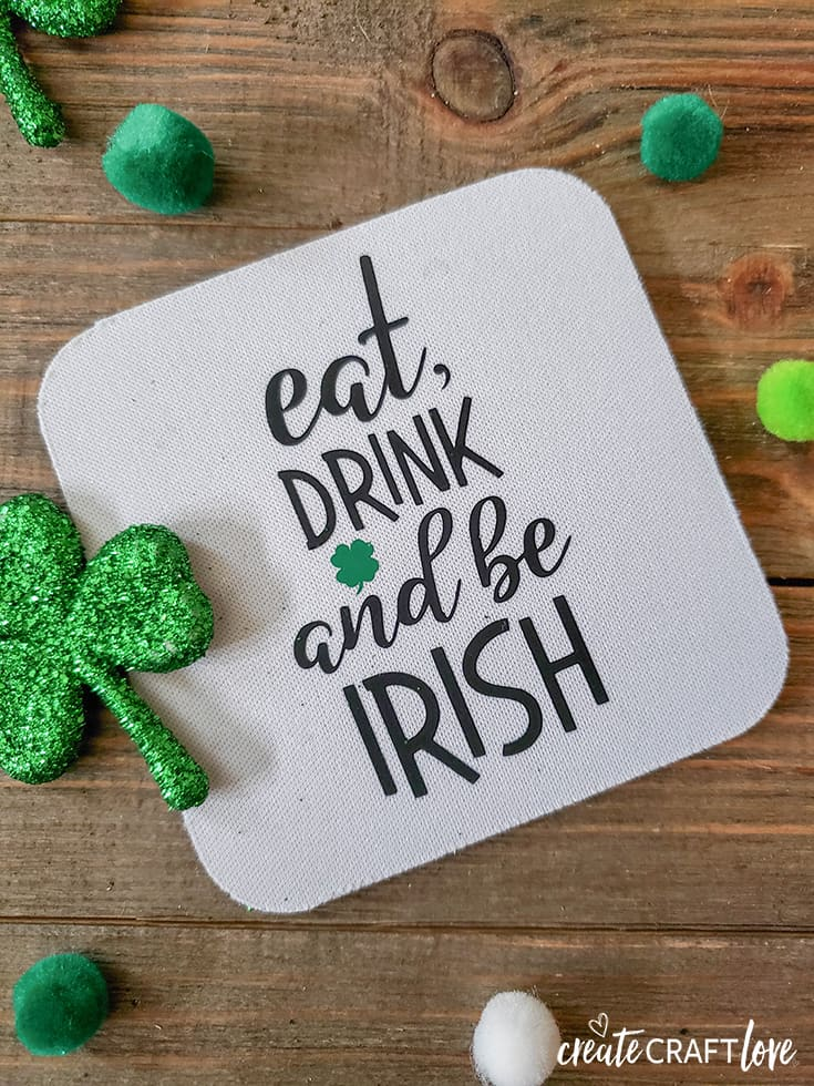 Eat Drink and Be Irish Drinking Coasters