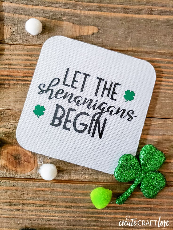 Let the Shenanigans Begin Irish Drinking Coasters