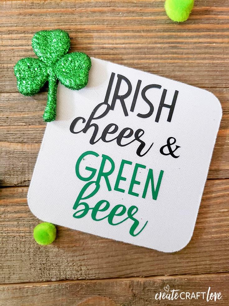 Irish Cheer & Green Beer Irish Drinking Coasters
