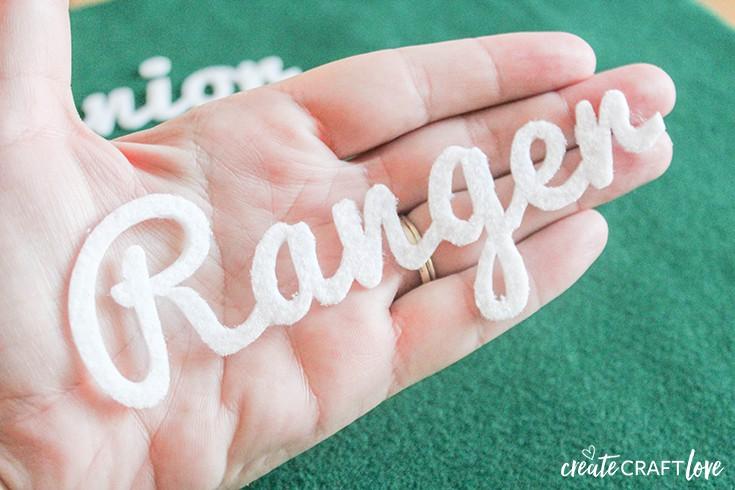 Cut lettering