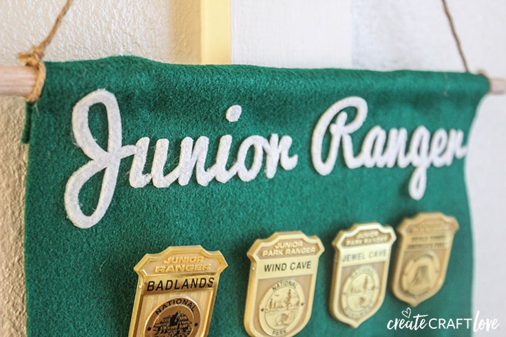 Junior Ranger Badge Display up close