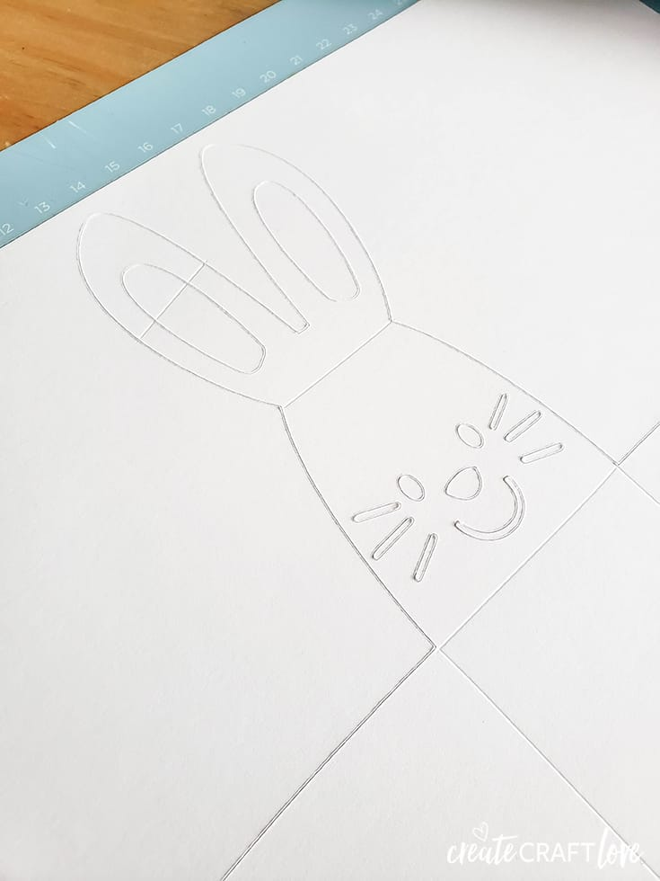 cutting paper for paper bunny box