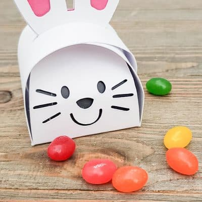 Create this Paper Bunny Box for Easter