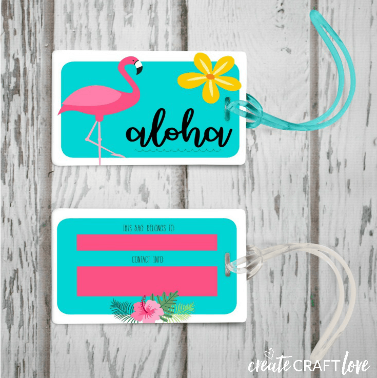 image relating to Luggage Tags Printable titled Absolutely free Bags Tag Printable for Summer months - Produce Craft Appreciate