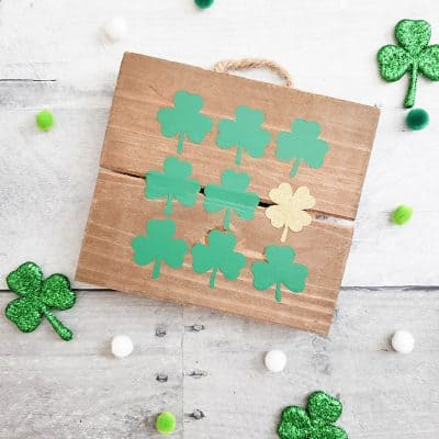 Shamrock Specimen Art #cricut #shamrock #specimenart #stpatricksday