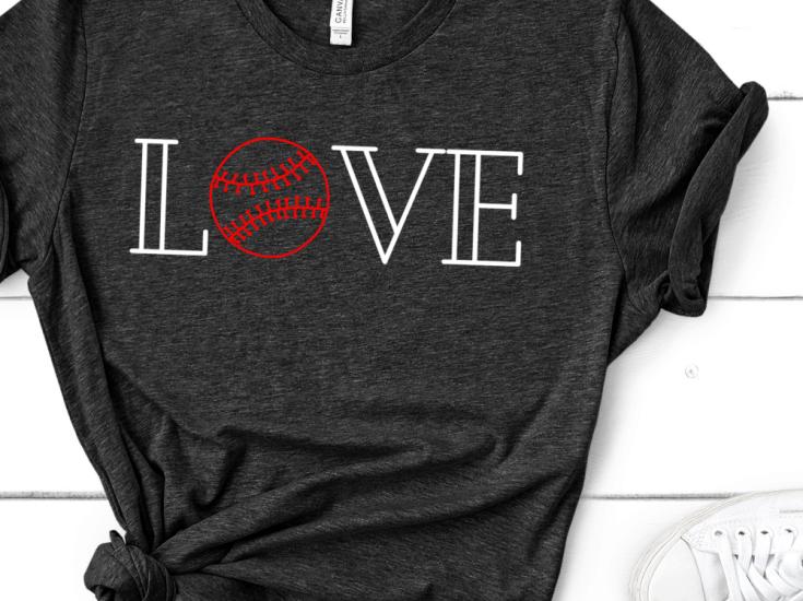 Create your own Baseball Love Shirt for the love of the game! #cricut #baseball #sports #ironon
