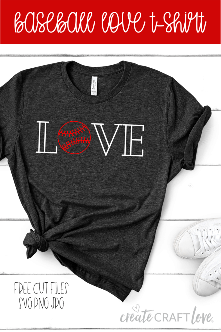 Create your own Baseball Love Shirt for the love of the game! #cricut #baseball #sports #ironon