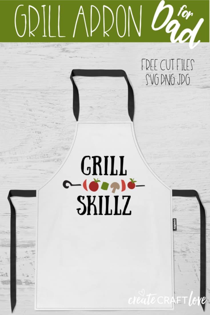 Surprise your favorite grill master this Father's Day with this DIY Grill Apron! #cricut #cricutmade #freesvgfile