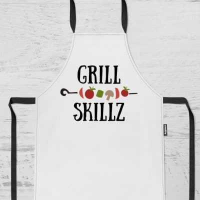 DIY Grill Apron and FREE SVG File! #cricut #cricutmade #freesvgfile