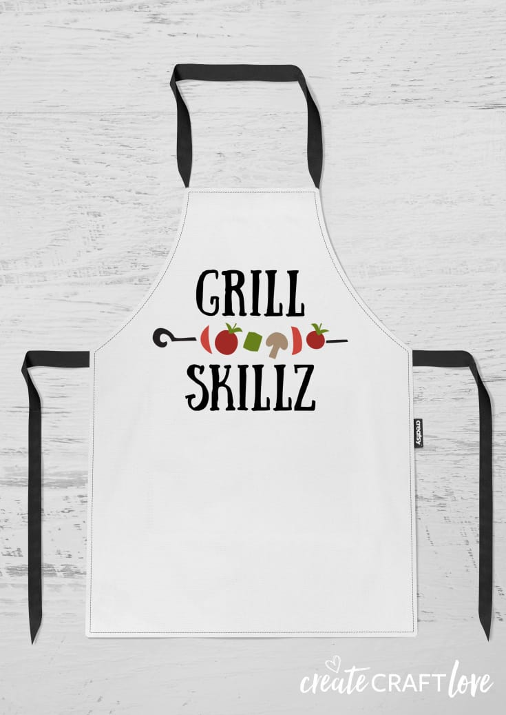 DIY Grill Apron and FREE SVG File! #cricut #cricutmade #freesvgfile