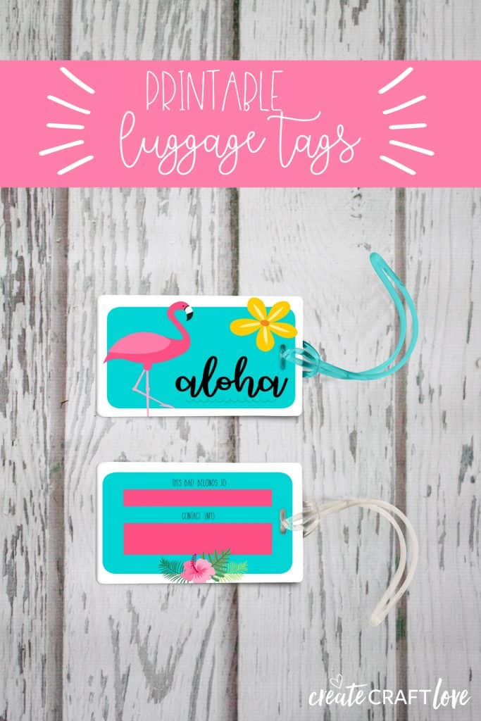 photograph about Luggage Tags Printable named Totally free Bags Tag Printable for Summer season - Acquire Craft Take pleasure in