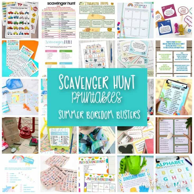 Celebrate National Scavenger Hunt Day by creating one of your own with these Scavenger Hunt Printables!