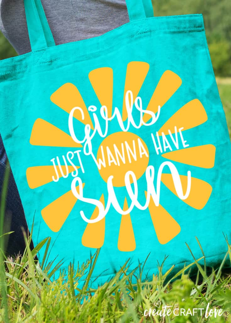 DIY Summer Tote Bag with Cricut