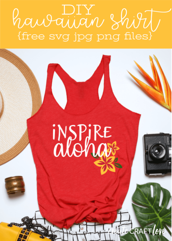Channel your inner aloha spirit with this DIY Hawaiian Shirt! Free SVG file available!