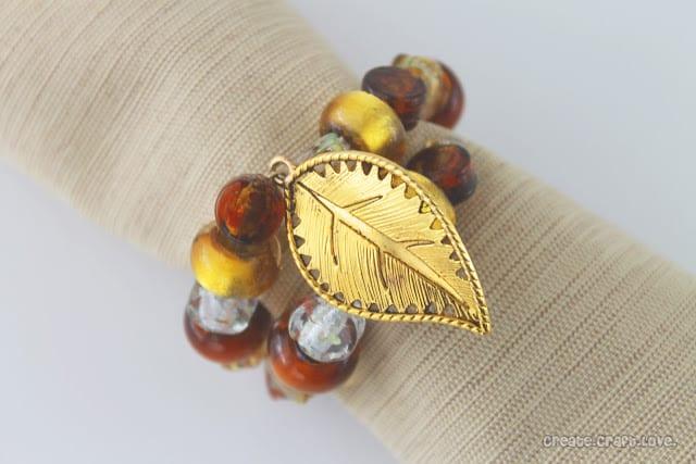 Beaded Napkin Ring for Thanksgiving